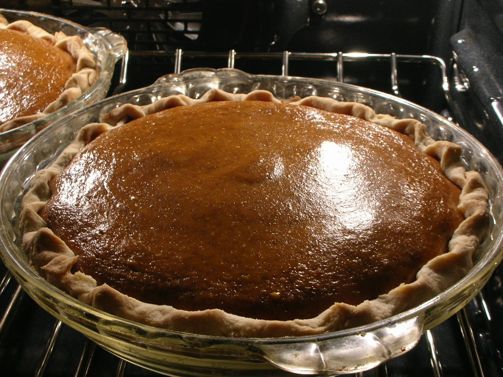 Nothing like pumpkin pie for breakfast.