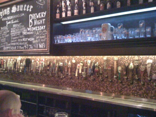 The Flying Sauer.  50 beers on taps.  Hundreds more in the bottle.