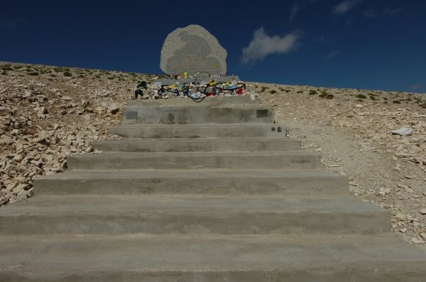 Tommy Simpson Memorial on Mt. Ventoux.