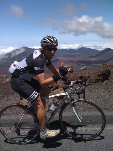 Andy Hampsten calls Donnie Arnoult the Mayor of Maui.  I'd say the King of Haleakala would be more appropriate.