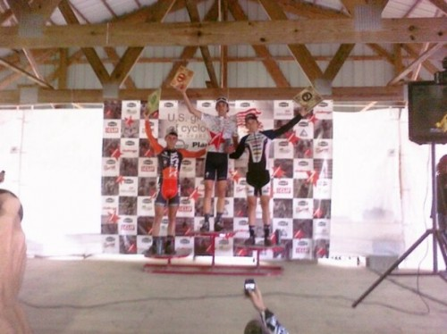 Joseph on the podium at the USGP in Madison.