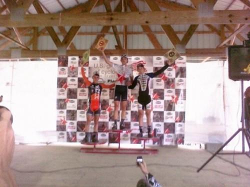 Joseph on the podium at the USGP in Madison.