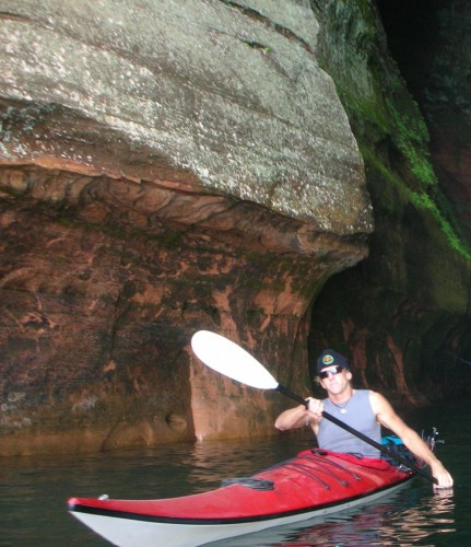 Kayaking in Lake Superior.