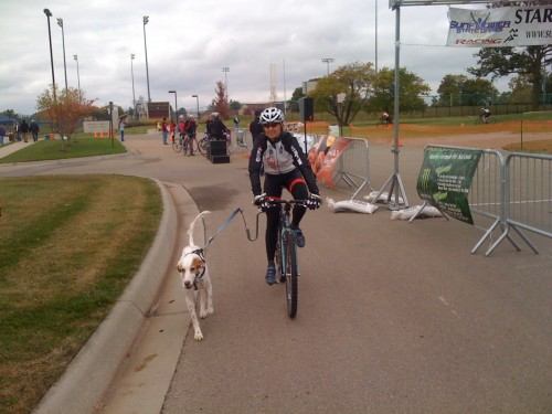 Trudi and Bromont at the race.  He (Bromont) got in 15 or so miles.