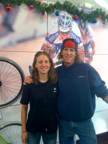 We stopped by Ft. Collins to see a friend, Amanda Miller (Snake Alley winner, new TIBCO signee) who was working at a Specialized Concept Store.  We nearly had her talked into getting in the van.  She blew a nice white knuckle experience.