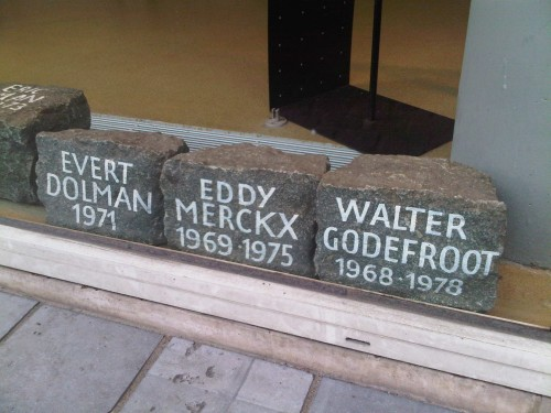 Winner's stones from the Tour of Flanders.