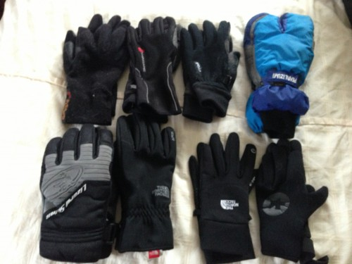 I have 8 pairs of gloves with me.