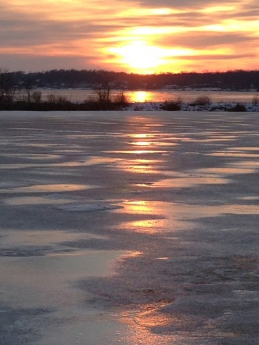 The sunset of Lake Delavan.  Just one of the reasons I ride bikes.