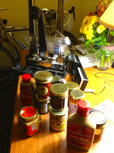 Matt went by the mustard museum and bought $90 worth of mustard to take home.