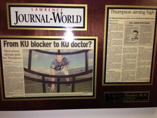 Lance Synder played for KU also and treated the teams.