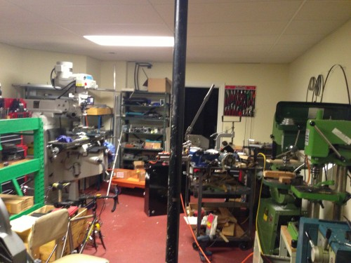 Carl has a full machine shop in their basement.
