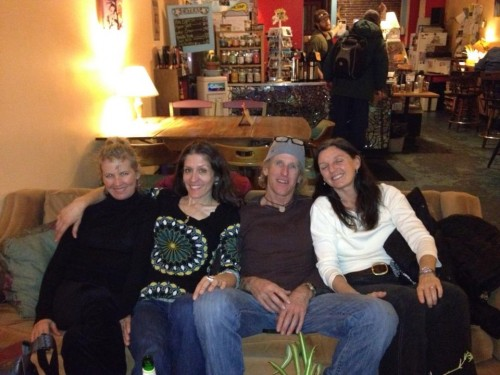 The highlight of the day, at a coffee shop after dinner with Catherine, Monique and Trudi.