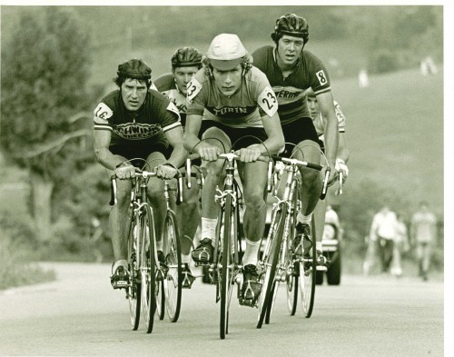 This is a picture of the winning break from the '76 Road Nationals.  I sent the photo to Wayne Stetina, Tom Schuler and Steve Jennings and got a tid bit of a story from each of them.  It is amazing how vivid memories are when they are of something from the past, but early experiences.