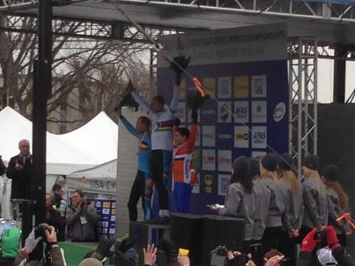 My view of the podium.