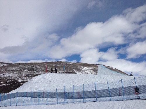 This is the middle jump for the slopestyle competition.  It is so huge.  I would love to see that too.