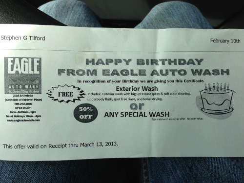 My free coupon.