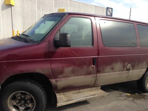 And dirty van.