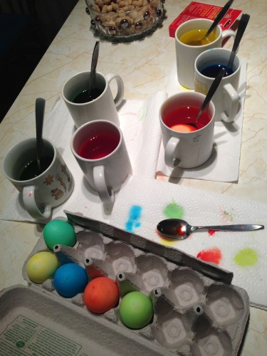 Dying eggs is always fun.