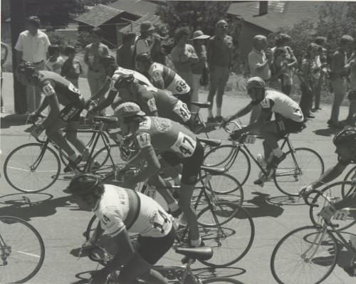 The first time I rode the Red Zinger/Coor's Classic, I rode for a composite team sponsored by ArchorSteam Beer.  I wonder if I still have that jersey, it was wool and super hot.  That is Tom Chew, my team mate, beside me.