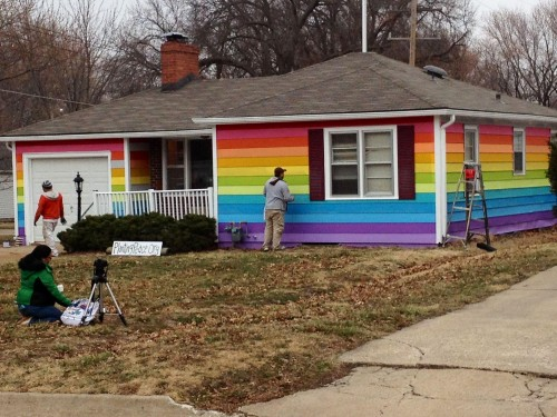 The protest house across the street from the Westboro Baptist Church.
