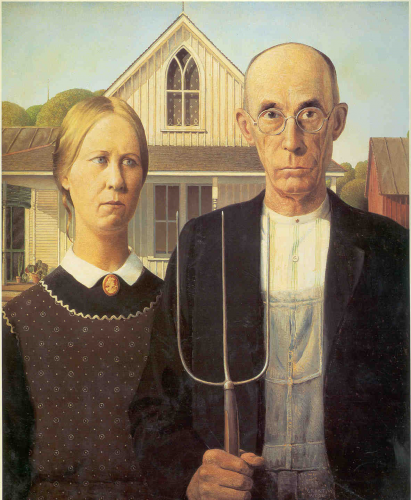 American Gothic, by Grant Wood.