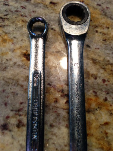 "The wrenches.  Only one is a Craftsman.  (I know Ann, ""What are those doing on my kitchen counter?)"