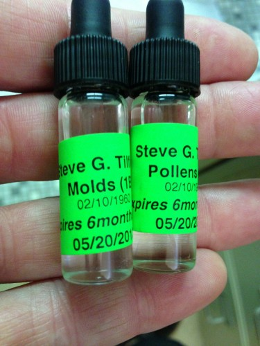 Allergy drops for the first couple weeks.  It is diluted and then gets stronger as you use more.