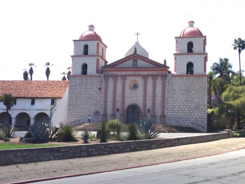The Mission in Santa Barbara.