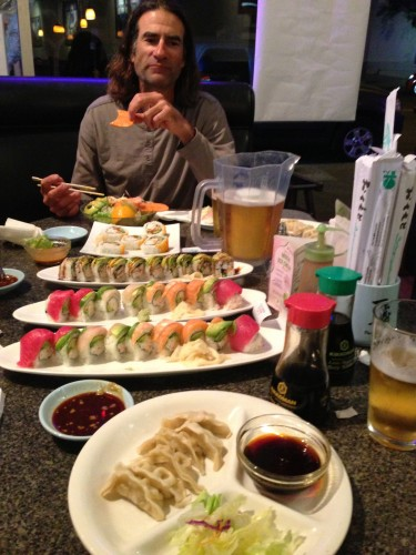 Last meal of each trip is at Ichiban in PB.  Sue and Don always order an unbelievable amount of sushi.