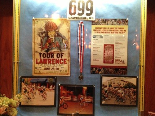 Freestate has a little shrine/display, for the Tour of Lawrence, which is next weekend.
