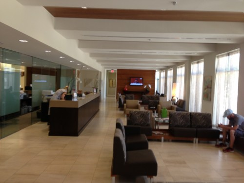 Lobby of the swanky plastic surgery center in Overland Park.  I drank two cappuccinos.