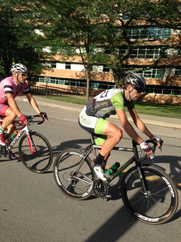 Brian and Brad Huff riding together.