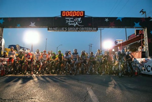 They had good lighting at the races in Tulsa, but there were all kinds of shadows.