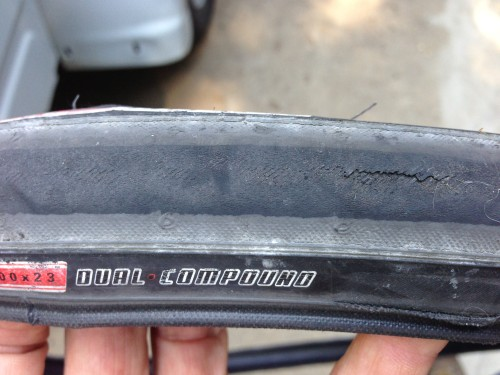 And Bill raced the criterium on Sunday on this tire when his race wheel went flat right before the race.