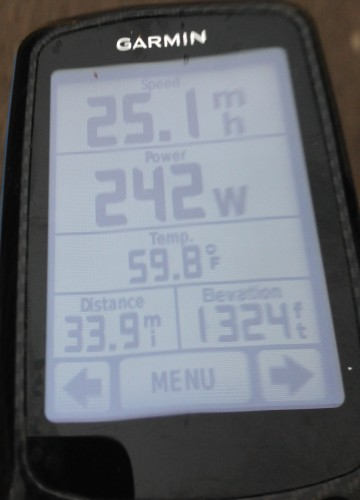 My Garmin from Saturday.  Pretty abnormal high.