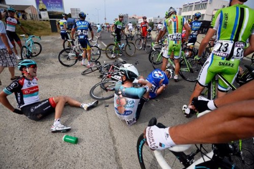 Scenes like this just detract from the race in my opinion.