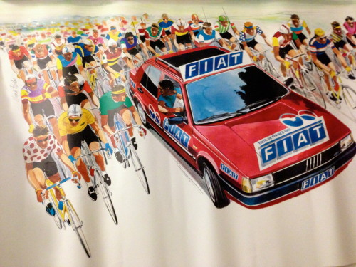 Here's an old poster from the Tour de France.