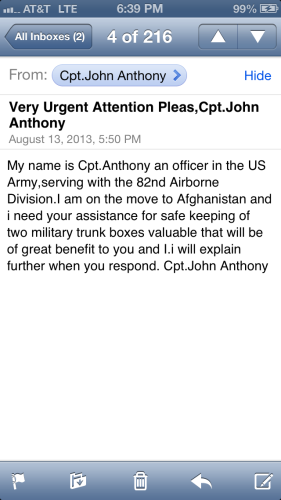 From the military guy.