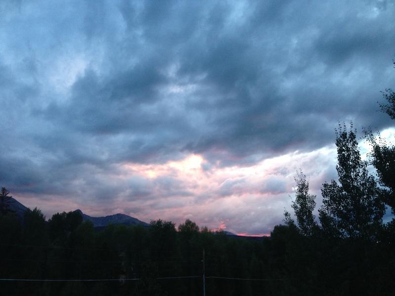 Sunset over Silverthorne, CO.