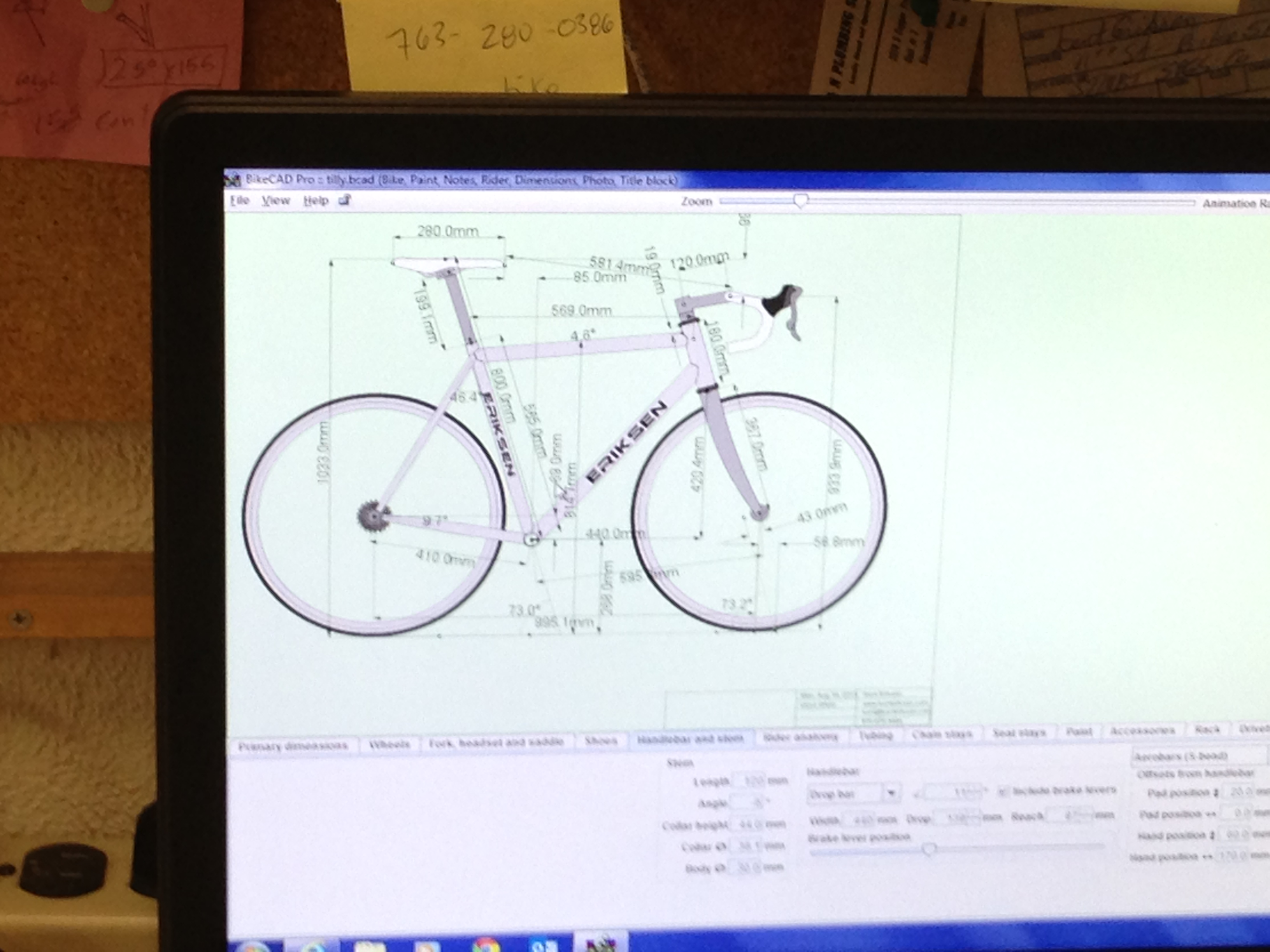 This is a CAD design of a road frame for me.