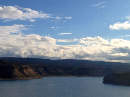 I'm not sure what this reservoir's name is, but it is always special seeing water out in the middle of an arid area.