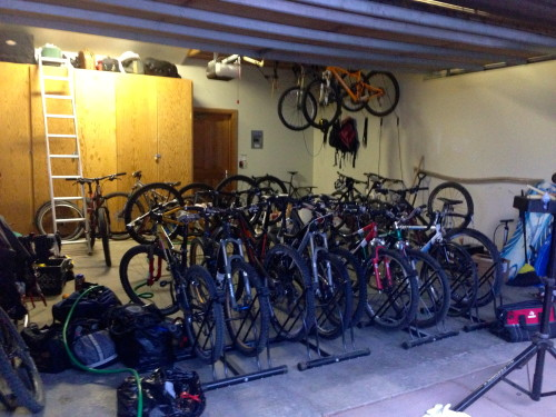 The mass of MTB bikes up in the house in Deer Valley.