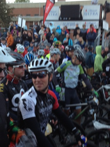Brian at the start this morning in Leadville.  Looks chilly.