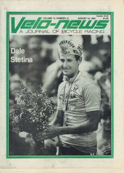 Dale on the cover of Velonews after winning the Coor's Classic in 1983.
