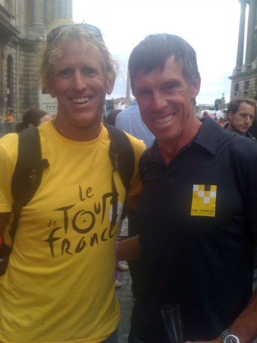 I saw Phil a couple years back at the last stage of the Tour de France.