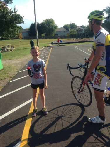 I went for a couple hour ride with Curtis Tolson.  We rode by his daughter's cross country practice.