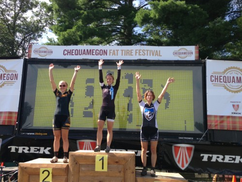 Women's Podium  - Chloe Woodruff, winner.