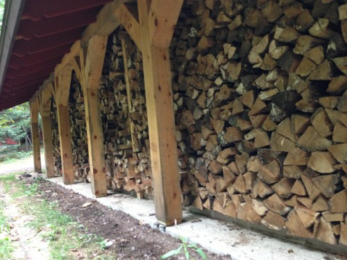 There is already a good amount of wood stacked, but there is never enough.
