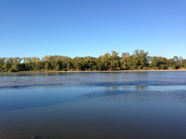 The Kansas River has been pretty low the whole year, but still looks picturesque.
