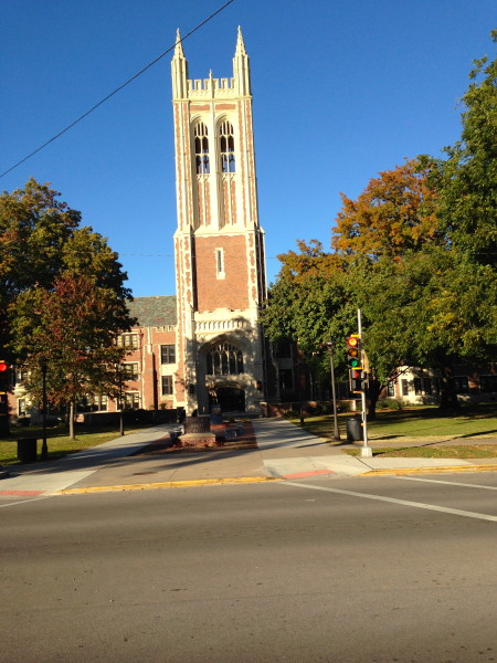 This is my high school, Topeka High.  It is a very impressive building.